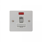 Define polished chrome switched fused connection unit with neon - white inserts