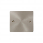 Define brushed stainless 1 gang blank plate