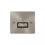 Define brushed stainless unswitched fused connection unit - black insert