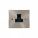 Define brushed stainless 5A socket - black inserts