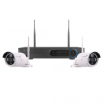 HDView 2 wire free white bullet cameras CCTV kit