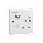10mA RCD 1 gang switched socket