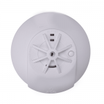 Mains heat detector alarm with battery back up - wireless interlink