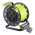 4 gang 25 metre extension cable reel