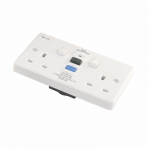 2 gang RCD switched socket