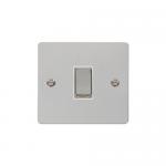 Define polished chrome1 gang light switch - white inserts