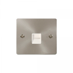 Define brushed stainless telephone secondary - white inserts