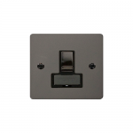 Define black nickel switched fused connection unit