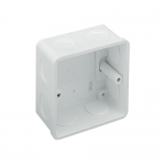 PVC flush back box - 1 gang