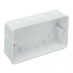 PVC flush back box - 2 gang