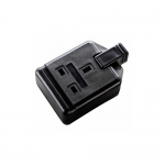 Trailing socket - 1 gang black