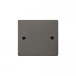 Define black nickel 1 gang blank plate